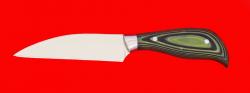 Нож Обвалочный, клинок сталь 95Х18, рукоять микарта (цвет чёрно-зелёный)