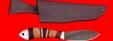 """Охотничий нож """"Канадец"""", клинок дамасская сталь, рукоять наборная береста+венге, метал, отверстие под темляк"""