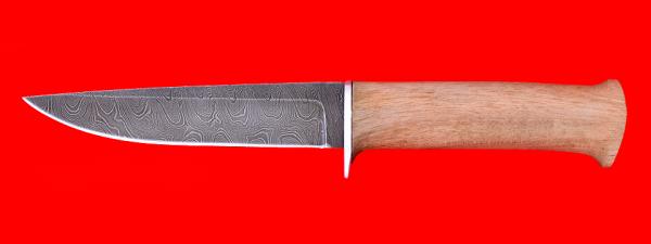 """Нож """"Гладиатор-2"""", клинок дамасская сталь, рукоять орех"""