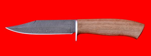 """Нож """"Гюрза"""", клинок дамасская сталь, рукоять орех"""