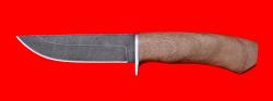 """Охотничий нож """"Бурундук-2"""", клинок дамасская сталь, рукоять орех"""