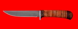 Нож Засапожный №1, клинок сталь Х12МФ, рукоять береста