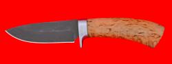 Охотничий нож Соболь-2, клинок сталь Х12МФ, рукоять карельская берёза