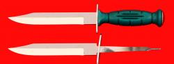 Нож разведчика НР-43 Вишня, разборный, два клинка из стали У8, рукоять пластмасса