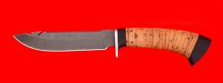 Нож Рыбацкий-2, клинок сталь D2, рукоять береста