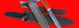 """Кабанье копьё «Зауфедер-1», клинок дамасская сталь + Разделочный нож """"Олень"""" ручной ковки из стали 9ХС, рукоять ножа и древко копья - падук"""
