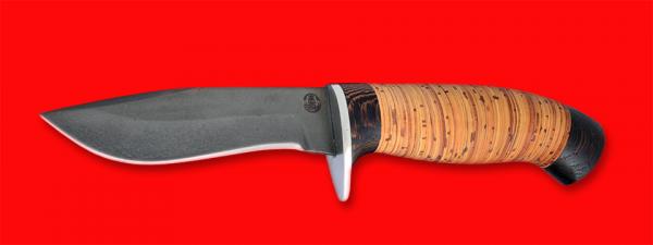"""Охотничий нож """"Вальдшнеп-2"""", клинок сталь D2, рукоять береста"""