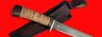"""Нож """"Засапожный №1"""", клинок сталь D2, рукоять береста"""