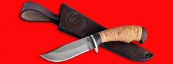 Нож Филин, клинок сталь D2, рукоять береста