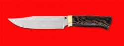 Нож Промысловый большой, клинок порошковая сталь ELMAX, рукоять венге