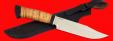 """Нож """"Промысловый большой"""", клинок порошковая сталь ELMAX, рукоять береста"""