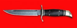 """Реплика """"Финка НКВД"""", клинок дамасская сталь, рукоять венге, латунь"""