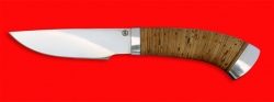 Охотничий нож Рысь-2, клинок порошковая сталь ELMAX, рукоять береста, металл