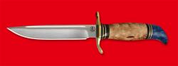 Реплика Финка НКВД, клинок порошковая сталь ELMAX, рукоять карельская береза