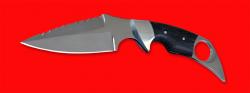 Нож тактический Ворон, цельнометаллический, клинок сталь 65Х13, рукоять венге