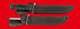 """Нож разведчика НР-43 """"Вишня"""", разборный, два клинка из стали У8 + 95Х18, рукоять пластмасса (цвет черный)"""