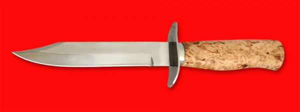 """Нож """"НР-40"""", клинок сталь У8, рукоять и деревянный чехол из карельской березы"""