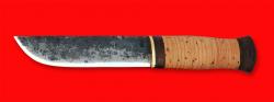 Охотничий нож Саамский, клинок сталь 9ХС, рукоять береста