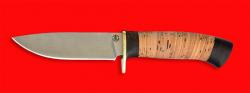"""Охотничий нож """"Панда-2"""", клинок порошковая сталь Vanadis 10, рукоять береста-венге"""