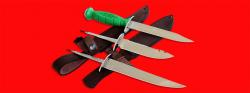 Нож со сменными клинками на базе НР-43 Вишня, комплектация Рыбак-Турист №1, рукоять пластмасса