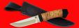 """Охотничий нож """"Бурундук"""", клинок порошковая сталь ELMAX, рукоять береста"""