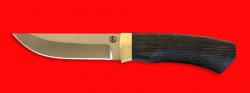 Охотничий нож Бурундук, клинок порошковая сталь ELMAX, рукоять венге