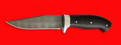 Нож Сокол, цельнометаллический, клинок дамасская сталь, рукоять венге