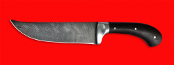 Нож Таджикский большой цельнометаллический, клинок дамасская сталь, рукоять венге