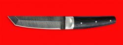 Нож Самурай малый, цельнометаллический, клинок дамасская сталь, рукоять венге