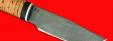 """Охотничий нож """"Рысь-2"""", клинок сталь D2, рукоять береста"""