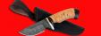"""Охотничий нож """"Шкуродер"""", клинок дамасская сталь, рукоять береста"""