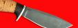 """Охотничий нож """"Лань"""", клинок сталь D2, рукоять береста"""