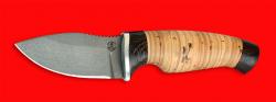 Нож Ёжик, клинок сталь D2, рукоять береста