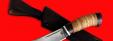 """Охотничий нож """"Хомяк"""", клинок сталь D2, рукоять береста"""