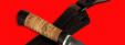 "Охотничий нож ""Воробей"", клинок сталь D2, рукоять береста"