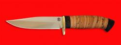 Нож Сокол, клинок порошковая сталь ELMAX, рукоять береста