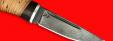 """Охотничий нож """"Карманный"""", клинок сталь D2, рукоять береста"""