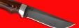 """Охотничий нож """"Грибник"""", цельнометаллический, клинок сталь D2, рукоять G10 (цвет черно-оранжевый)"""