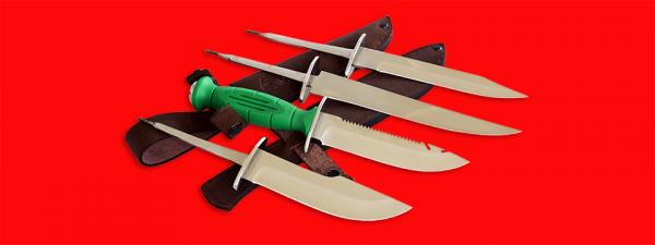 """Нож со сменными клинками на базе НР-43 """"Вишня"""", комплектация """"Универсал"""", рукоять пластмасса"""