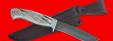 """Охотничий нож """"Вальдшнеп-2"""", цельнометаллический, клинок дамасская сталь, рукоять лосиный рог"""
