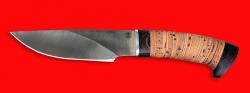 Охотничий нож Рысь, клинок порошковая сталь Vanadis 10, рукоять береста