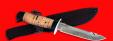 """Нож """"Рыбацкий-4"""", клинок порошковая сталь Vanadis 10, рукоять береста, с гардой"""