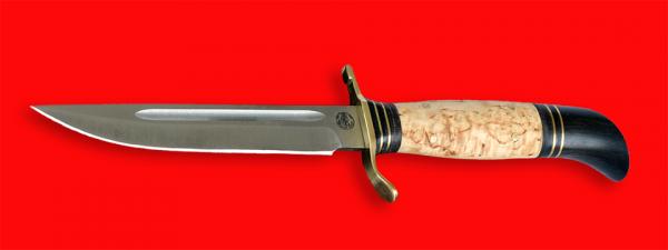 """Реплика """"Финка НКВД"""", клинок порошковая сталь Vanadis 10, рукоять карельская береза"""