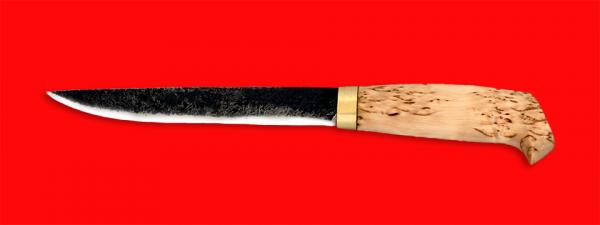 """Нож """"Карелия №3"""", ручная ковка, клинок сталь 9ХС, рукоять карельская берёза"""