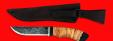 """Охотничий нож """"Грибник"""" ручная ковка, клинок сталь 9ХС, рукоять береста"""