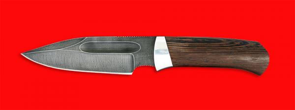 """Нож """"Экстрим"""", клинок дамасская сталь, рукоять венге"""