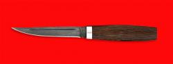 Нож Финка, клинок дамасская сталь, рукоять венге