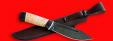 """Нож """"Тундра"""", клинок дамасская сталь, рукоять береста"""