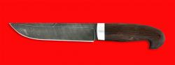 Нож Сибирь, клинок дамасская сталь, рукоять венге
