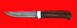Нож Пума, клинок дамасская сталь, рукоять венге